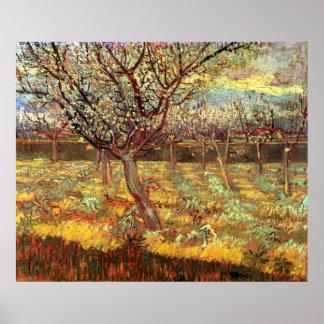 Poster Abricotier de Van Gogh dans la fleur, beaux-arts