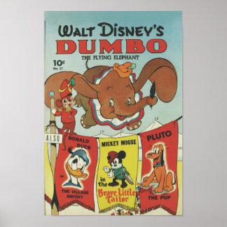 Poster Abruti de Wald Disney l'éléphant de vol