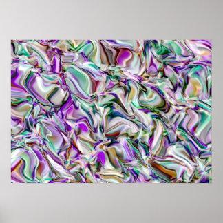 Poster Abstraction. Soirée dans un verger olive