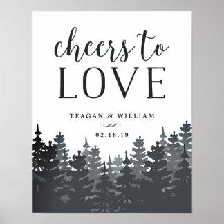 Poster Acclamations de la forêt | d'hiver pour aimer