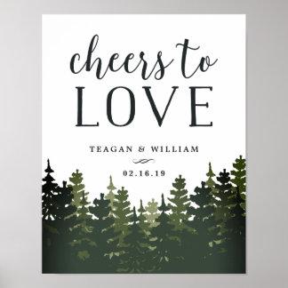 Poster Acclamations grandes des pins | pour aimer épouser