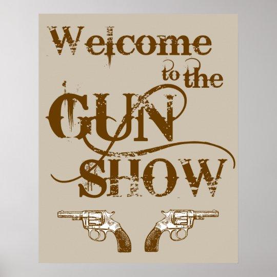 Poster accueil l 39 affiche de salon d 39 armes feu for Salon des armes a feu