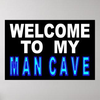 Poster Accueil à mon signe de caverne d'homme