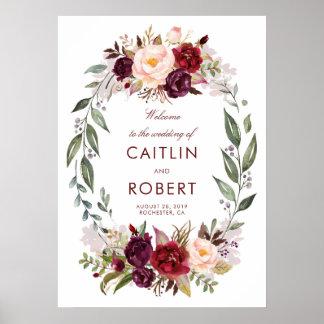 Poster Accueil floral de mariage de Bourgogne