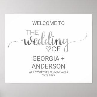 Poster Accueil simple de mariage de calligraphie
