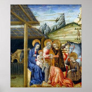 Poster Adoration de Giovanni di Paolo The des Magi