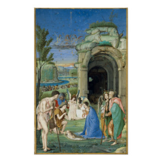 Poster Adoration des bergers, circa 1500