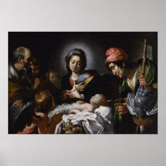 Poster Adoration des bergers, circa 1615