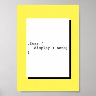 Poster Affichage de crainte aucun CSS drôle