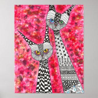 """Poster Affiche 11"""" de chats siamois x 14"""" (vous pouvez"""