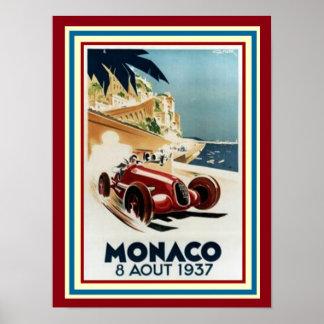 Poster Affiche 12 x 16 du Monaco 8 Aout 1937