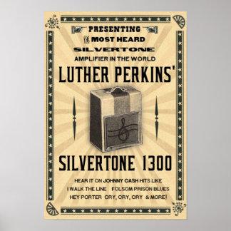 Poster Affiche 1300 Silvertone d'amplificateur