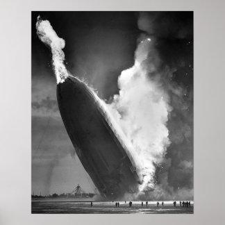 """Poster Affiche 16"""" de catastrophe de Hindenburg x20""""."""