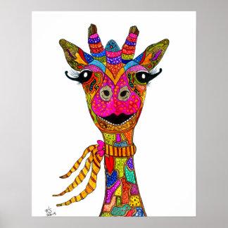 """Poster Affiche 16x20 de girafe"""" (vous pouvez customiser)"""