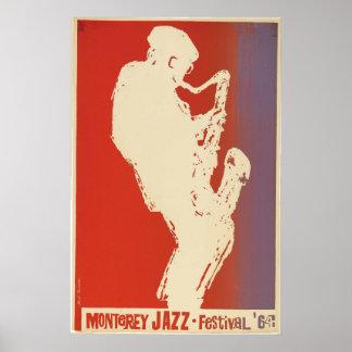 Poster Affiche 1964 de festival de jazz de Monterey