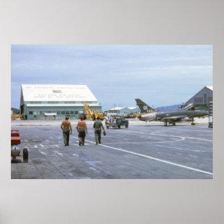 Poster Affiche 1969 du Vietnam de base aérienne de Tuy