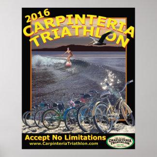 Poster Affiche 2016 de triathlon de Carpinteria