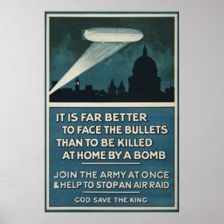 """Poster Affiche 20"""" de recrutement d'armée britannique de"""
