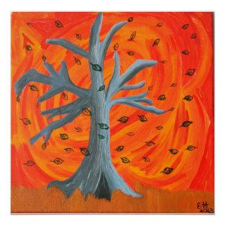 """Poster Affiche 20x20 de peinture acrylique """"de l'automne"""