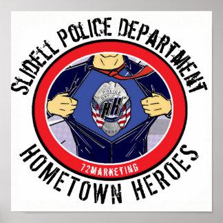 Poster Affiche 72 de Dept. Hometown Heroes de police de