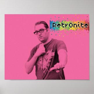 Poster Affiche 9 de bruit de Retr0nite