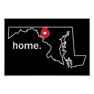 Poster Affiche à la maison du comté du Maryland -