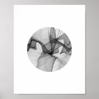 Poster Affiche abstraite | 8x10 de cercle