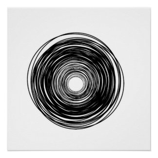 Poster Affiche abstraite de cercle de minimaliste