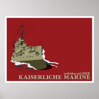 Poster Affiche allemande de propagande de Première Guerre
