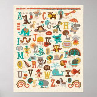 Poster Affiche animale d'ABC