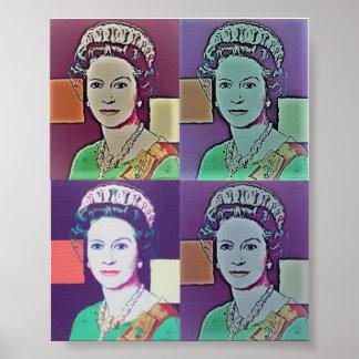 Poster Affiche - art de bruit 'le Queen