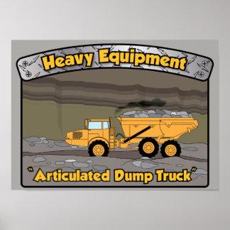 Poster Affiche articulée par équipement lourd de camion à