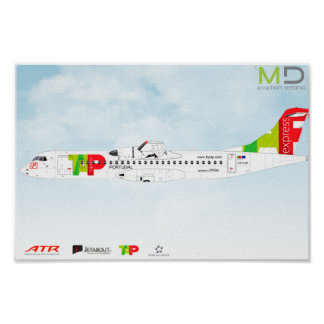 Poster Affiche - ATR72 TAP Expres