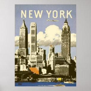 Poster Affiche avec la copie vintage fraîche de New York