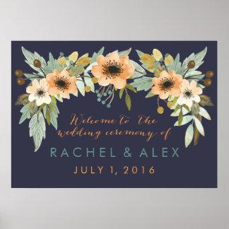 Poster Affiche bienvenue de floraison faite sur commande