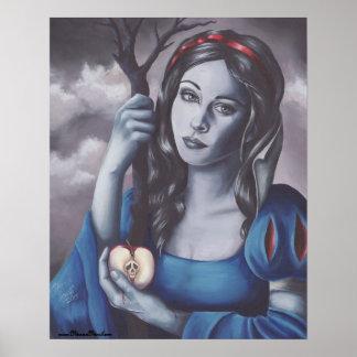 Poster Affiche blanche de conte de fées d'affiche de