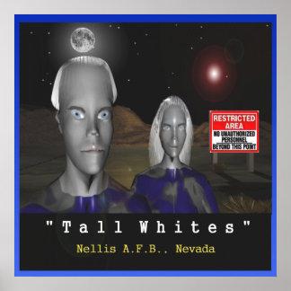Poster Affiche blanche grande d'aliens