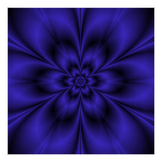 Poster Affiche bleue de fleur
