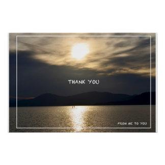 """Poster Affiche brillante de photo des textes de """"Merci"""""""