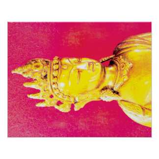 """Poster Affiche «BuddhaPink """""""