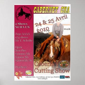 Poster Affiche Cabernet Cutting Show Avril 2010