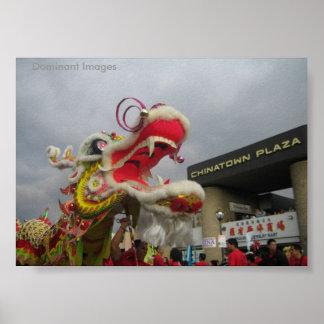Poster Affiche chinoise de dragon de nouvelle année