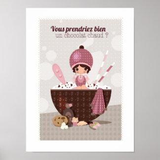 Poster Affiche chocolat pour votre cuisine