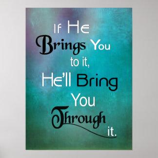 Poster Affiche chrétienne - il vous amènera par elle !