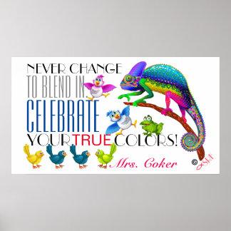 Poster Affiche d'acceptation d'encouragement de diversité