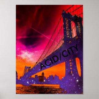 Poster Affiche d'ACID/CITY