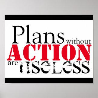Poster Affiche d'action de plan