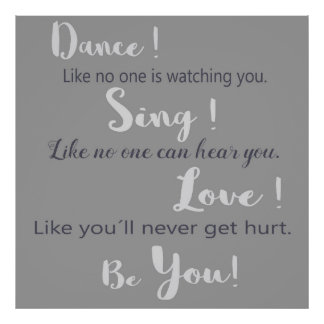 Poster Affiche «Dance ! Chanter ! Love ! Accélérateur de