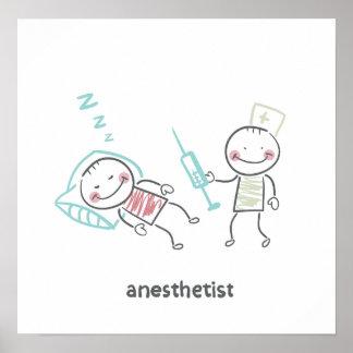 Poster Affiche d'anesthésiste