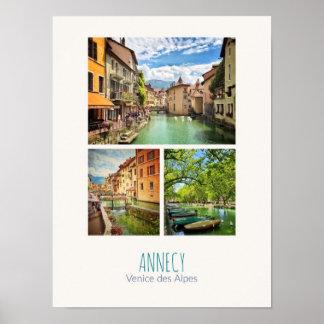 Poster Affiche d'Annecy - de Haute-Savoie